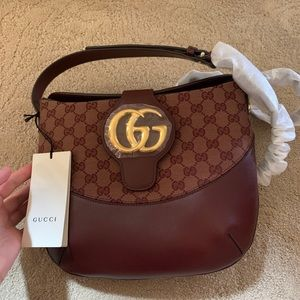 Gucci GG leather Canvas crossbody